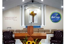 Wall graphics logo and bible verse - Heritage Baptist Church in Chesterfield, VA